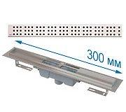 Трап APZ1001 300 мм в комплекте с решеткой Cube