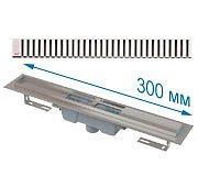 Трап APZ1001 300 мм в комплекте с решеткой Line