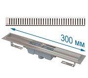 Трап APZ1001 300 мм в комплекте с решеткой Pure