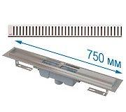 Сухой трап с вертикальным выпуском APZ1001 с решеткой