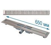 Трап APZ101 650 мм в комплекте с решеткой Pure