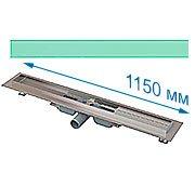 Трап для душа Alcaplast APZ106 1150 мм с решеткой Зеленое стекло