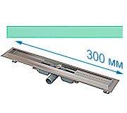 Трап для душа Alcaplast APZ106 300 мм с решеткой Зеленое стекло