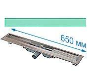 Трап для душа Alcaplast APZ106 650 мм с решеткой Зеленое стекло