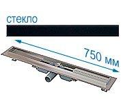 Трап для душа Alcaplast APZ106 750 мм с решеткой Черное стекло