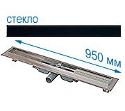 Трап для душа Alcaplast APZ106 950 мм с решеткой Черное стекло