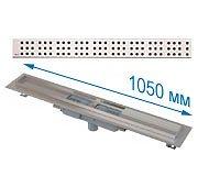 Трап APZ1101 1050 мм в комплекте с решеткой Cube