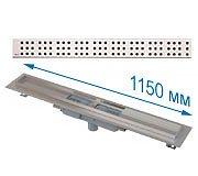 Трап APZ1101 1150 мм в комплекте с решеткой Cube