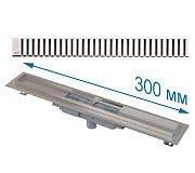 Трап APZ1101 300 мм в комплекте с решеткой Line