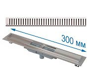 Трап APZ1101 300 мм в комплекте с решеткой Pure