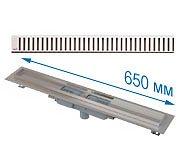 Трап APZ1101 650 мм в комплекте с решеткой Pure