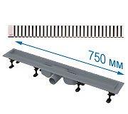 Трап с горизонтальным выпуском 50мм APZ12 с решеткой