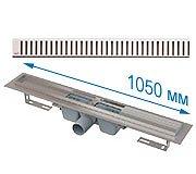 Слив для бани в пол APZ1 1050 в комплекте с решеткой