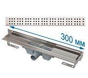 Трап APZ4 300 мм в комплекте с решеткой Cube