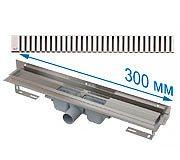 Трап APZ4 300 мм в комплекте с решеткой Line