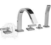 Смеситель Migliore Syntesi ML.SNS-7980 Cr на борт ванны
