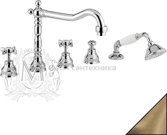 Смеситель Migliore Princeton ML.PRN-880 Br на борт ванны