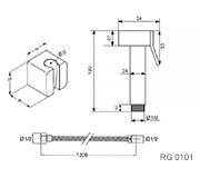 Квадратная металлическая лейка со шлангом схема