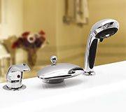 Врезной смеситель для ванны Niagara Lux на 3 элемента