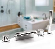 Врезной смеситель для ванны Onda Lux на 4 элемента