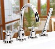 Врезной смеситель для ванны Spazio Lux на 4 элемента